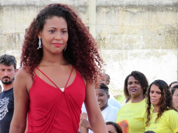 Michele foi eleita por 10 jurados em presídio no Rio (Foto: Marcelo Elizardo/ G1)