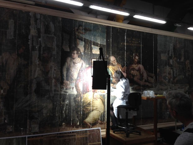 Restauração de 'A Última Ceia' está sendo financiada pela Prada (Foto: Marcelo Crescenti/BBC)