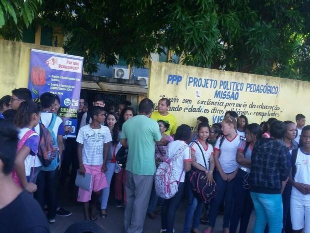 Escola Rafael Rueda foi ocupada em Cuiabá (Foto: Gabriel Henrique Silva/Divulgação)