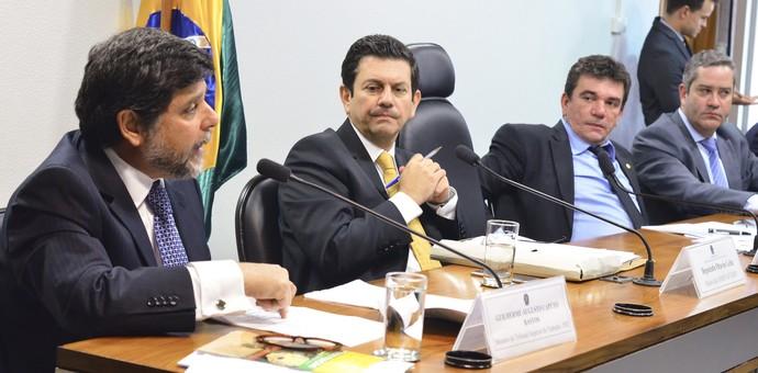 Guilherme Caputo, ministro do TST, em audiência pública no Congresso (Foto: Ana Volpe / Agência Senado)