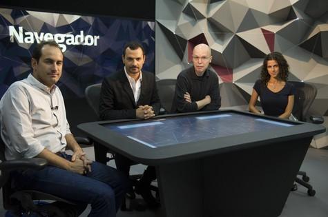 Elenco grava 'Navegador', da GloboNews (Foto: Divulgação)