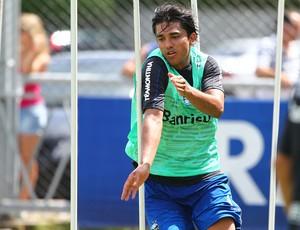 Marcelo Moreno treina fisicamente no Olímpico pelo Grêmio (Foto: Lucas Uebel/Grêmio FBPA)