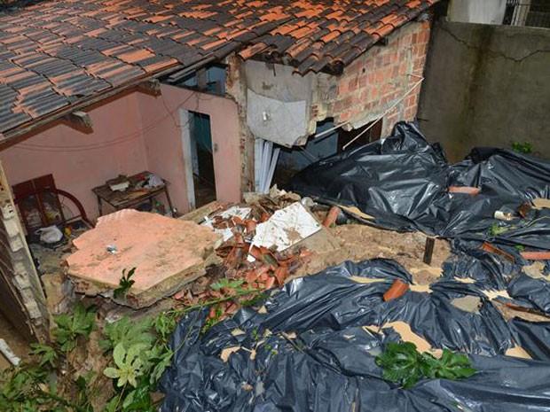 Situação de emergência em Candeias, na Bahia (Foto: Abdias Alves/Prefeitura)