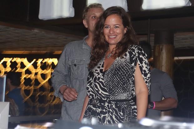 Jade Jagger na festa Isla Priviège, em Angra dos Reis (Foto: Divulgação)