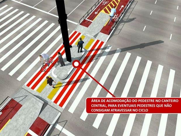 Área da travessia deve ser preservada. (Foto: Reprodução/CET)