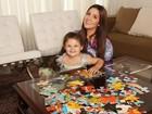 Ex-BBB Tamires posa com a filha: 'Ser mãe é o maior prazer da minha vida'