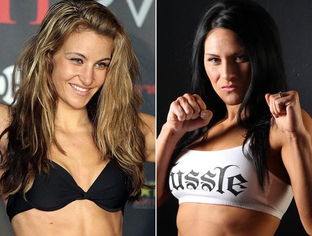 Montagem MMA Miesha Tate x Cat Zingano (Foto: Editoria de Arte/Globoesporte.com)
