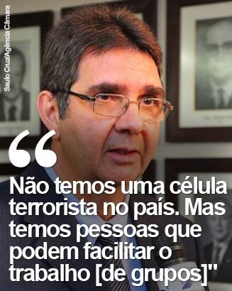 O diretor de contraterrorismo da Abin, Luiz Alberto Sallaberry (Foto: Saulo Cruz/Agência Câmara)