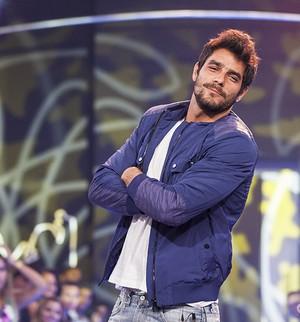 Diego eliminação palco pose  (Foto: Fabiano Battaglin / TV Globo)
