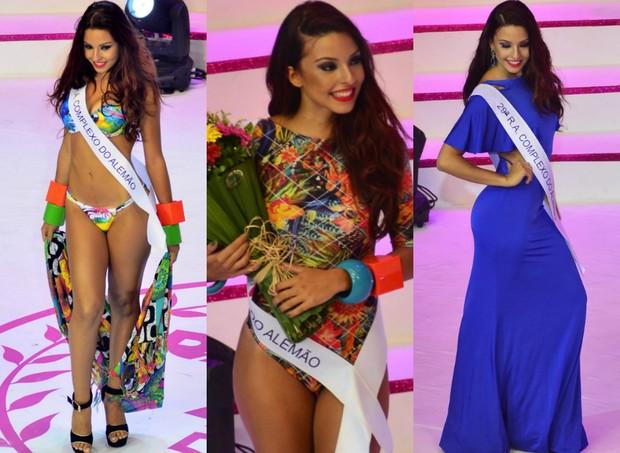 Candidata do Complexo do Alemão ficou em 2º lugar no concurso (Foto: Roberto Teixeira / EGO)