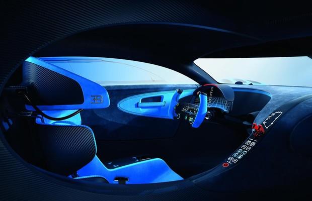 Interior do Bugatti Vision Gran Turismo concept (Foto: Divulgação)