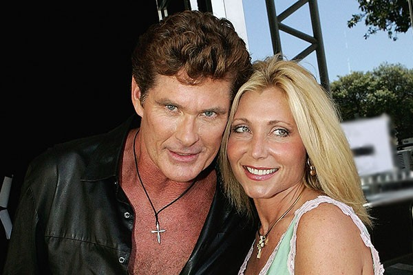 David Hasselhoff e Pamela Bach (Foto: Getty Images)