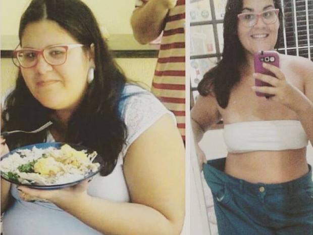 Bruna já emagreceu mais de 40 kg e quer continuar perdendo peso (Foto: Bruna Christino / Arquivo Pessoal)
