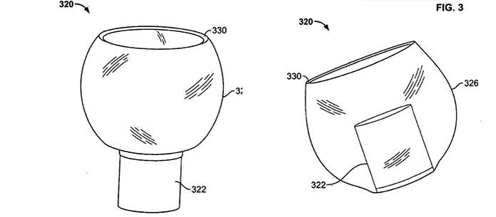 Material invólucro do fone plástico para encaixar no ouvido (Foto: Divulgação/USA Patent)