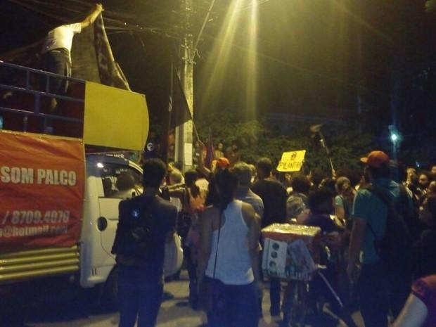 Protesto na frente do Iphan (Foto: Reprodução/Whatsapp)