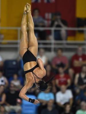 Ingrid erra, chora, mas avança às finais dos saltos ornamentais (Foto: TIMOTHY A. CLARY/AFP/Getty Images)