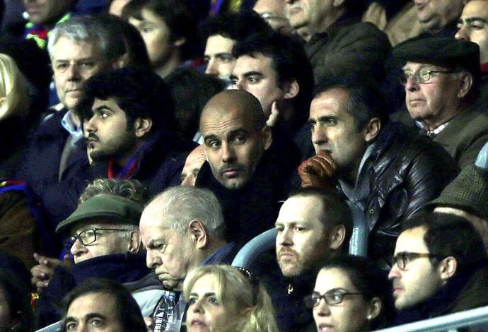 Guardiola, Barcelona X Manchester City (Foto: Agência EFE)