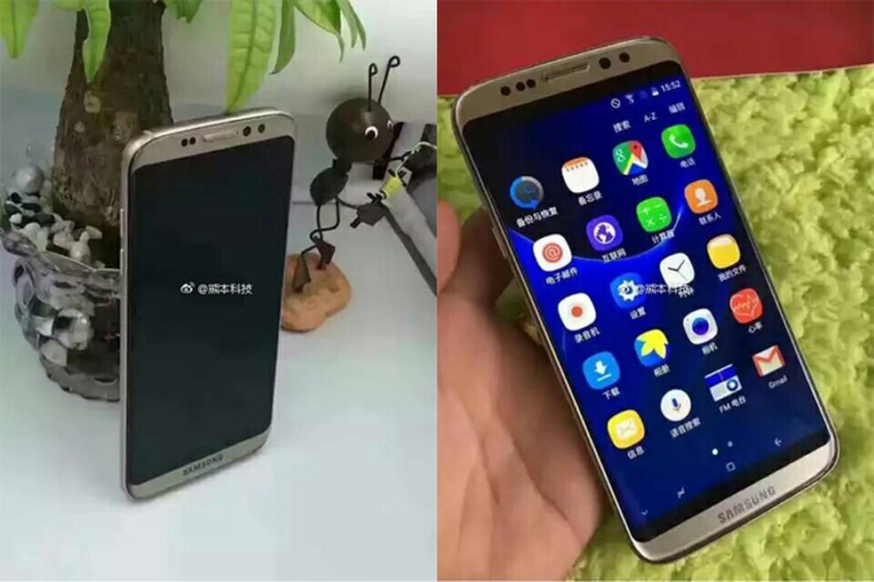 Galaxy S8 falso tem barras pretas na tela para imitar o display