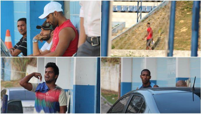 Jr. Paraíba, Gilson, Lusmar e Romarinho também foram dispensados (Foto: Marcos Dantas)