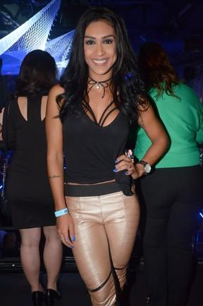 Ex-BBB Amanda em festa em São Paulo (Foto: Eduardo Martins/ Ag. News)