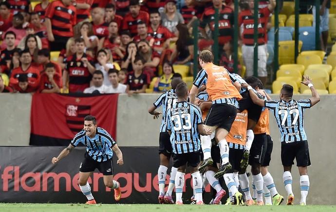 Luan comemora gol do Grêmio contra o Flamengo (Foto: Getty Images)
