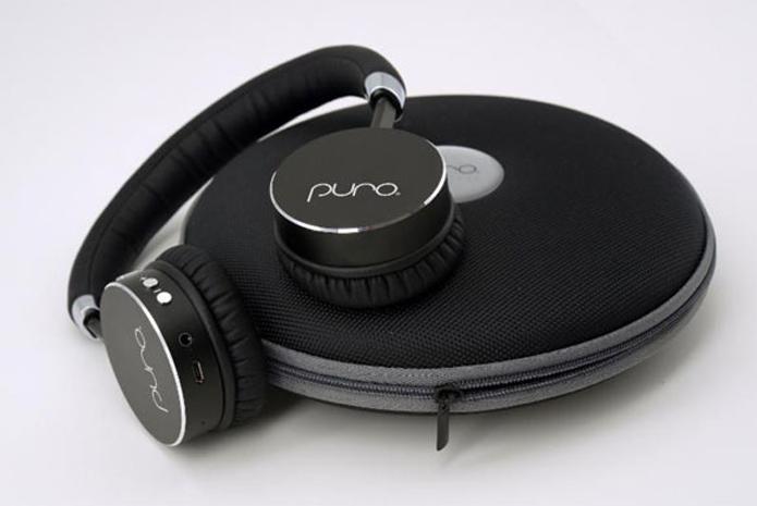 Fone de ouvido pode ser dobrado e guardado dentro do estojo para transporte (Foto: Divulgação/Puro Sounds Labs)