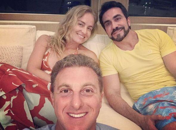Angélica, Luciano Huck e Padre Fábio de Melo (Foto: Reprodução/ Instagram)