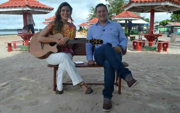 Lia Sophia vai cantar durante apresentação do programa (Foto: Jorge Abreu/Rede Amazônia)