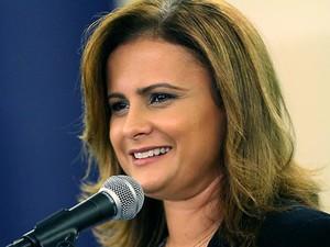 Micarla de Sousa, prefeita de Natal, anunciou voto no adversário Carlos Eduardo (Foto: Canindé Soares/Cedida)