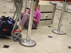 Passageia que estava no voo e preferiu não se identificar (Foto: Ellyo Teixeira/G1)