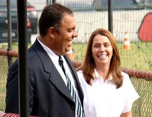 Patrícia Amorim e Marcos Braz no Flamengo (Foto: Globoesporte.com)