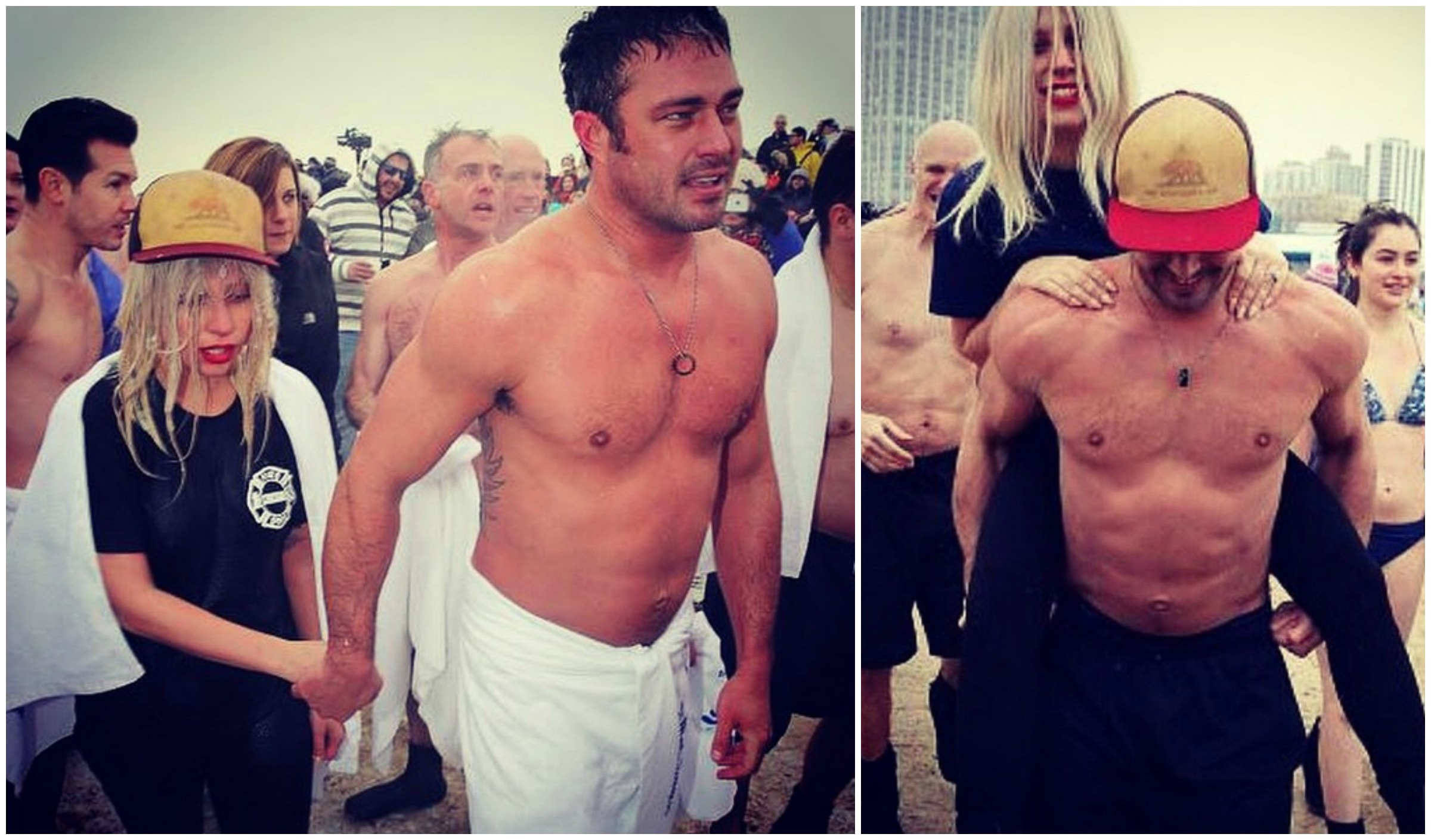 Taylor kinney em evento beneficente no domingo foto instagram