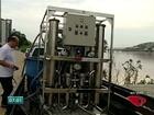 Máquina torna água barrenta do Rio Doce novamente limpa e potável