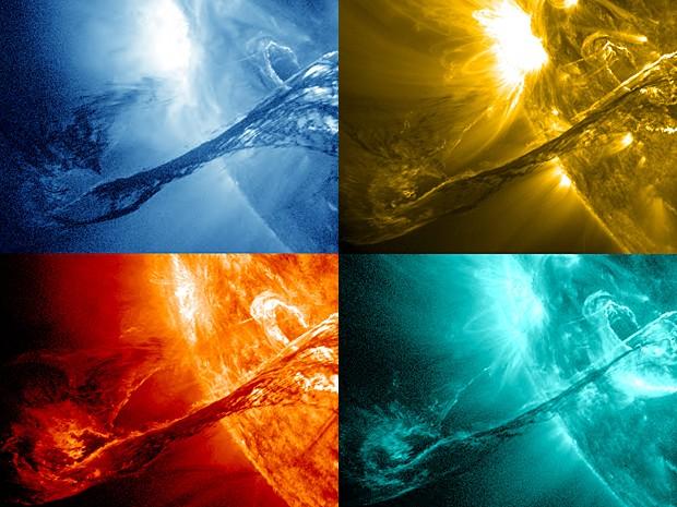Filamentos Sol (Foto: Nasa/SDO/AIA/GSFC)