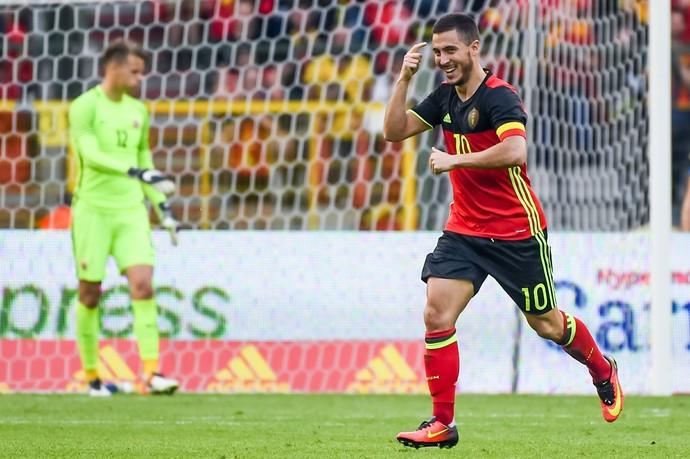 Hazard Bélgica Noruega (Foto: AP)