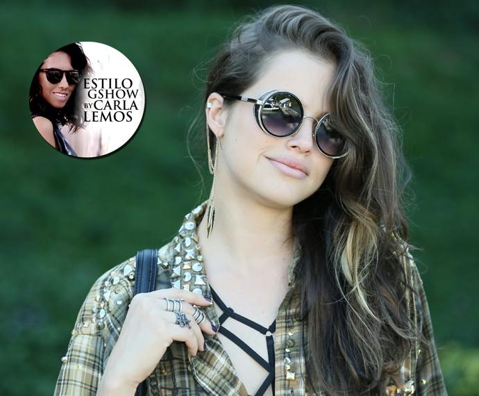 Giovanna arrasa ao escolher acessórios (Foto: Isabella Pinheiro/ Gshow)