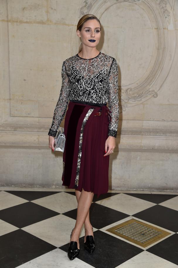 Olivia Palermo antes de assistir ao desfile de verão 2017 da Dior, em Paris' (Foto: Pascal Le Segretain / Getty Images )