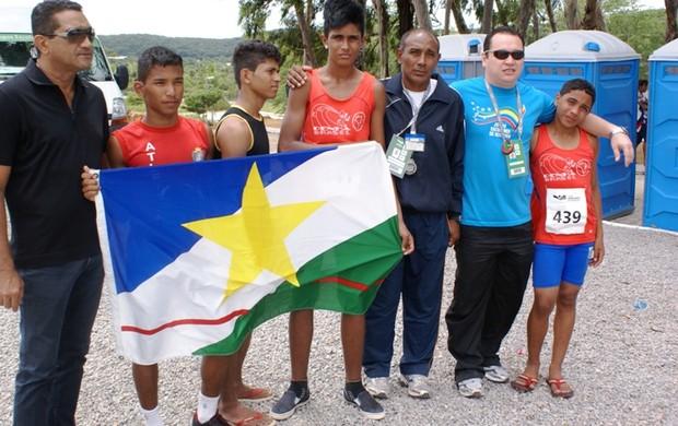Atletas e comissão técnica de Roraima nos Jogos da Juventude (Foto: Ascom/SEED)