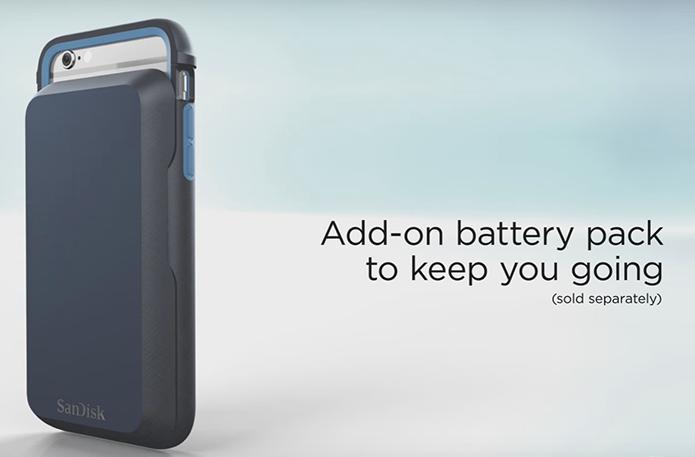 Bateria de 1900 mAh, que complementa a capa iXpand, é vendida separadamente (Foto: Diuvlgação/SanDisk)