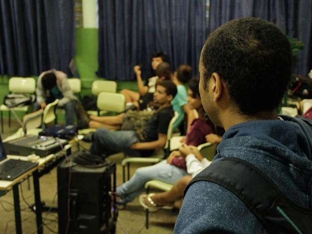 Estudantes ocupam escola em Sertãozinho desde segunda-feira (Foto: Gabrielle Van Pelt/Coletivo Usiarte)