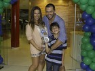 Henri Castelli organiza festa para comemorar o aniversário do filho