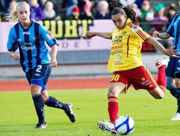 Marta no jogo enttre Tyreso e Djurgarden (Foto: Divulgação)