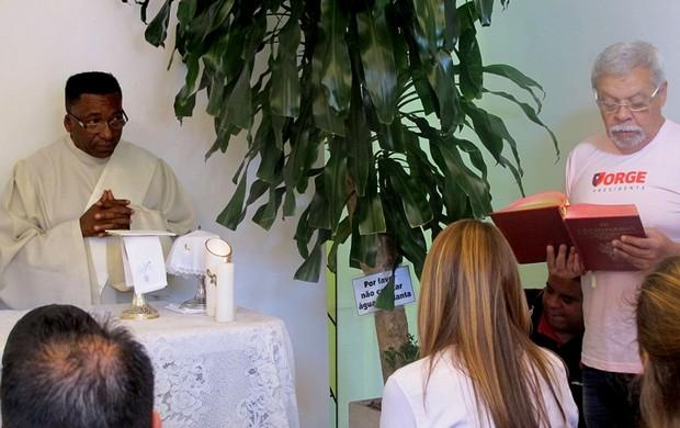 patricia amorim flamengo missa festa 117 anos (Foto: Janir Junior / Globoesporte.com)