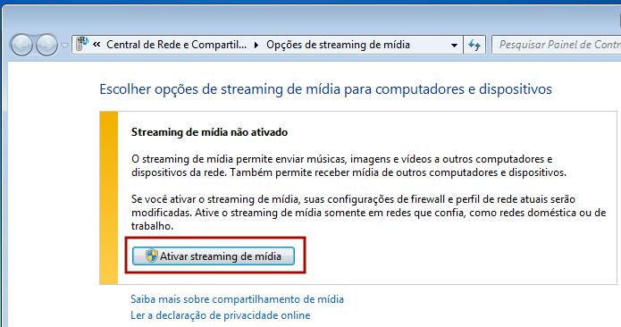 Ativando o recurso se stream de mídia no Windows 7 (Foto: Reprodução/Edivaldo Brito)