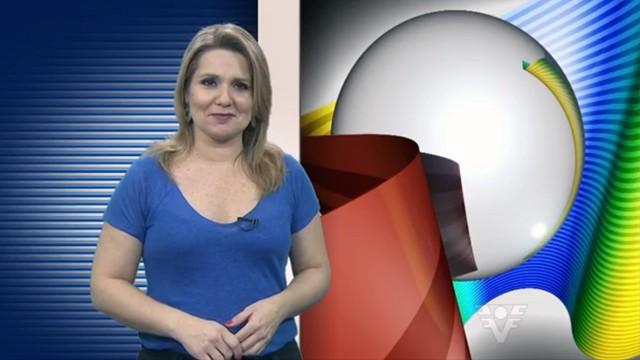Vanessa Faro apresentando o Tribuna Esporte (Foto: Reprodução / TV Tribuna)