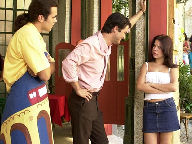 Em Sabor da Paixão, de 2001, Fernanda Souza foi a jovem Teca Coelho. (Foto: Cedoc / TV Globo)