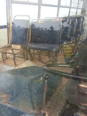 Ônibus escolar está em condições precárias (Foto: Joyce Souza/ Arquivo pessoal)