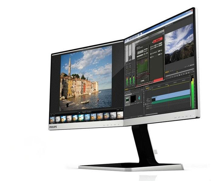 Monitores são separados por uma fina linha 3.5mm  (Foto: Divulgação/Computex)