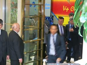 Dunga chegada Seleção Chile (Foto: Edgard Maciel de Sá / GloboEsporte.com)
