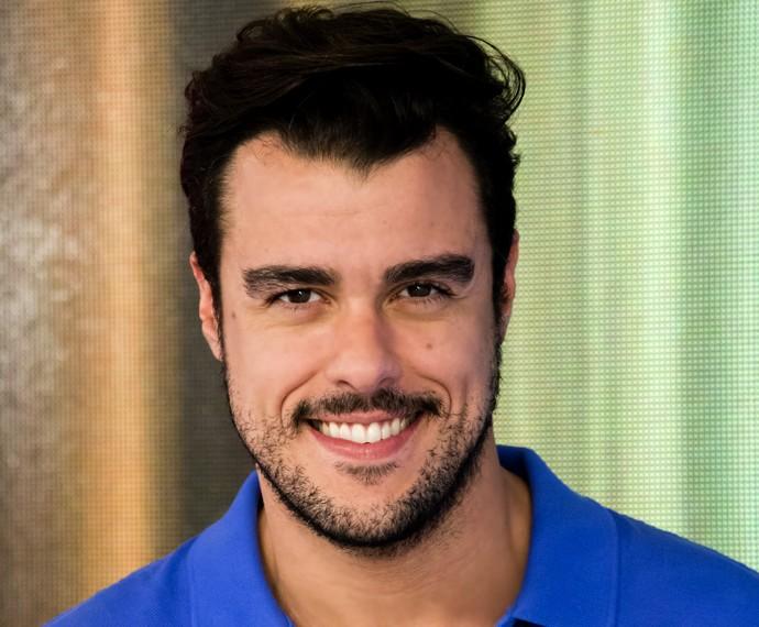 Joaquim Lopes se sente realizado com trabalho no Vídeo Show (Foto: Tata Barreto / TV Globo)